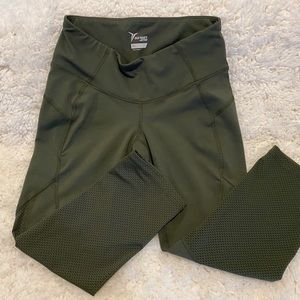 Legging cropped tights Pants small green